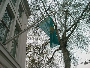 Kazakh Embassy London Flag Kazakhstan