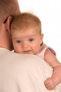 Anna In Her Favourite Position On Daddy's Shoulder