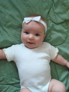 Anna Wearing Her First Ever Hair Bow