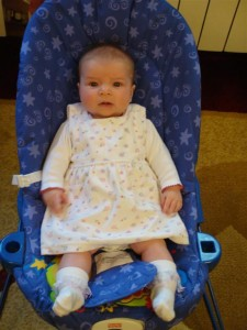 Anna In Her Bouncy Chair