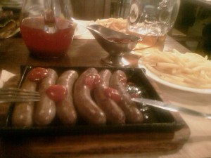 Sausages. Double Portion. (No Starter).