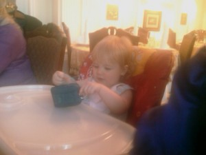 Anna In Her Highchair