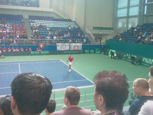 Swiss Player At The Davis Cup