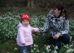 Anna With Irina Amongst The Snowdrops