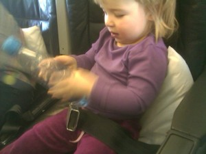 Anna In Her Plane Seat