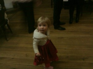 Anna In Her Pretty Party Dress And Bolero (Thanks Mum!)