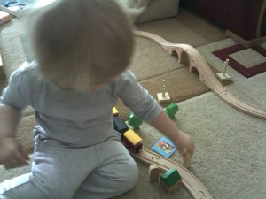 Anna With Her Train Set