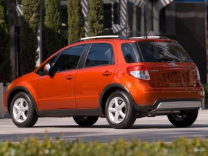Orange Suzuki SX4