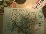 Daddy drew little doodles, Anna filled the rest of the canvas in. TGIF is obviously still little pricey, but nice treat