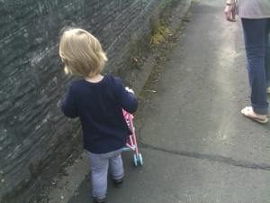 Anna Walking Solo To The Park With Her Pushchair