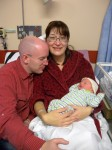 Chris, Irina & Tim Merriman in Singleton Hospital, Swansea, Wales
