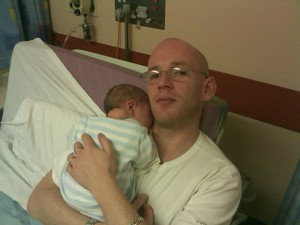 Chris And Tim Merriman in Singleton Hospital, Swansea, Wales