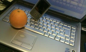 Orange On Alt, MP3 Player On Y