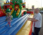 Daddy At The Ready To... ... Watch If Anna Falls Over