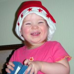 Five Hours After Her Sad Face, Xmas Hat To The Rescue!