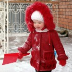 Furry Red Coat For The Powdery White Snow