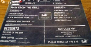 Burger Bar's Menu Once More