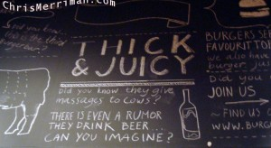 Burger Bar's Blackboard