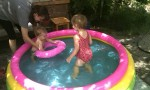 Tim And Anna In Their Paddling Pool