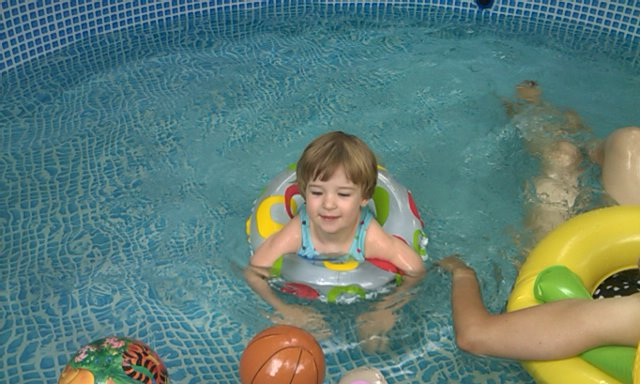 Anna Cooling Off In The Pool