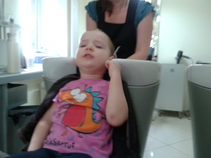 Anna Having Her Hair Washed