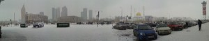 Snowy Panorama Outside Azia Park, Astana